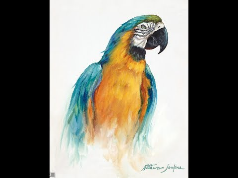 """The Beauty of Oil Painting, Series 3, Episode 5 """" Blue and Gold Macaw """""""