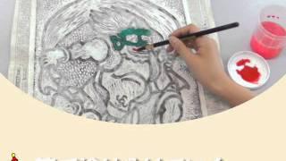 クラフテリオ|カラフル木版画-2着色の仕方