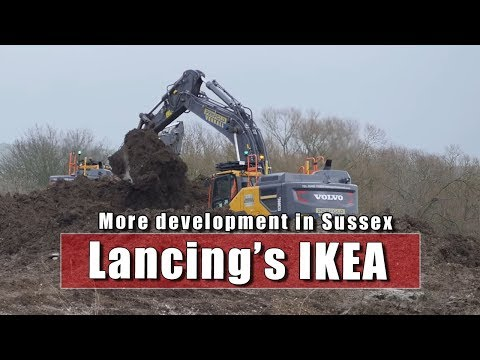 IKEA And New Housing Starts Near Lancing In Sussex