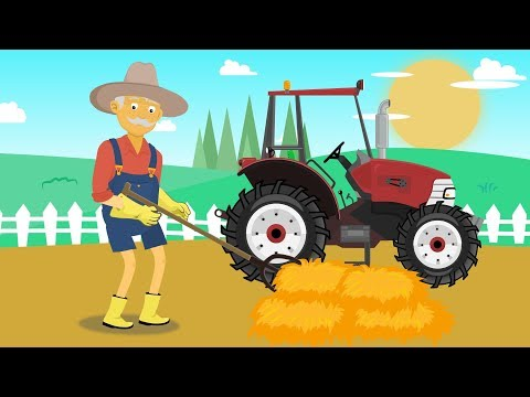 Hardworking farmer and straw for Cows | Farm works | #Tractor for Kids | Rolnik i Traktor