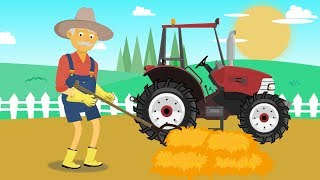 ☻ Farm Work - Straw for fudge | Red #tractor for Kids | Praca na Farmie. Rolnik - Bajka Traktor ☻
