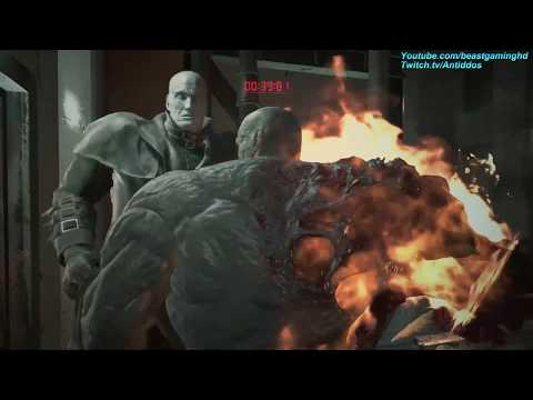 Resident Evil 2 Remake - Playing As The Super Tyrant Vs Mr.X *read Desc*