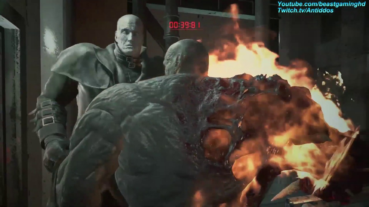 Resident Evil 2 Remake Playing As The Super Tyrant Vs Mr X Read Desc