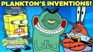 Every Invention Plankton Used to Steal the Krabby Patty Secret Formula  | SpongeBob