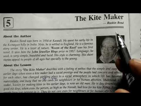 Part 1 The Kite Maker by Ruskin Bond line wise Hindi explanation