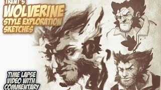 Wolverine Sketches in Sketchbook Pro.
