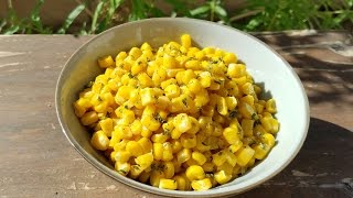 Thanksgiving Side Dish Recipe : Sauteed Butter Corn With Parsley