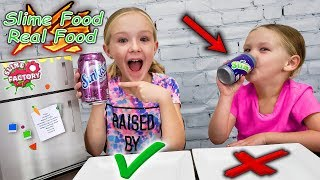Real Food vs Prank Slime Food!!! Don