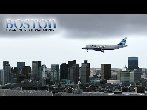 FSX [HD] - jetBlue | Airbus A320 | Approach to Boston Logan