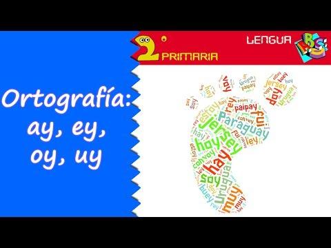 �y�.iy~��[�_Lengua,2º.Aprendoaescribir.Ortografía:ay,ey,oy,uy-YouTube