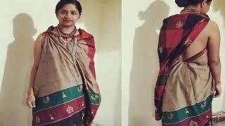 vuclip Blouseless Saree style ஜாக்கெட் இல்லாமல் சேலை அணியும் பெண்கள்