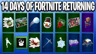 14 Days Of Fortnite COMING BACK - ALL 14 Days Of Fortnite Rewards & Challenges (Free Rewards)