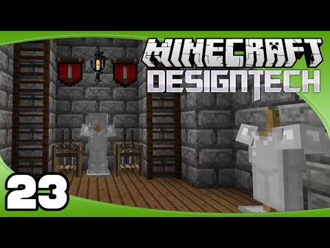 DesignTech - Ep. 23: Wireless Terminal & Interior Prep | Minecraft Custom Modpack Let's Play
