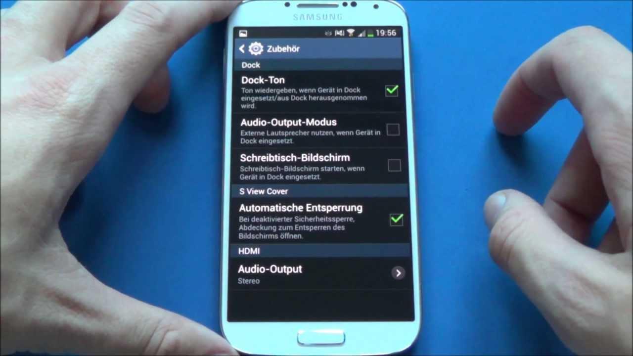 Samsung Galaxy S4 - Einstellungen/settings - YouTube