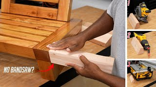 3 Ways to make this miter cut without a bandsaw (woodworking tip)
