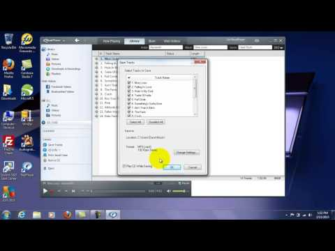 How To Rip Music From CD's Into MP3's Free Using Realplayer - Rip CD To MP3