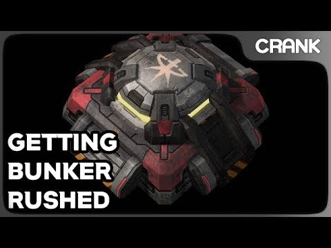 Getting Bunker Rushed - Cranks StarCraft 2 Variety