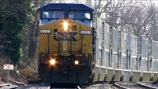 CSX and MARC Trains in Gaithersburg, Maryland
