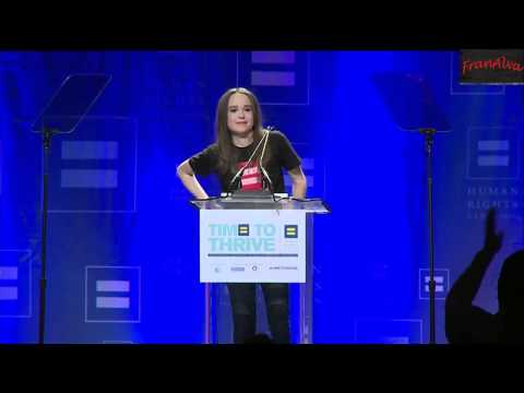 ★✰★ Ellen Page Comes out as GAY ✔ (Human Rights Conference) ✔ HD Full Speech LGBT ★✰★
