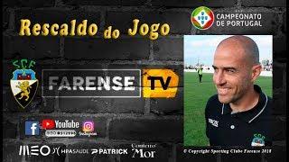 Rescaldo do jogo UD Vilafranquense 1-1 SC Farense