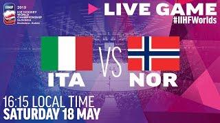 Italy vs. Norway | Full Game | 2019 IIHF Ice Hockey World Championship