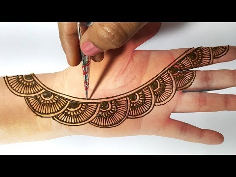 Easy Mehndi Design Trick - Latest Mehndi Design for Front Hand - Beginners के लिए बहुत आसान मेहँदी