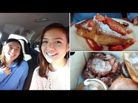 epic vegan brunch, donuts, jerky + more with my sister // VLOGMAS #7