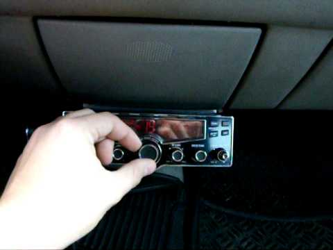 new cb radio installed in a buick park avenue