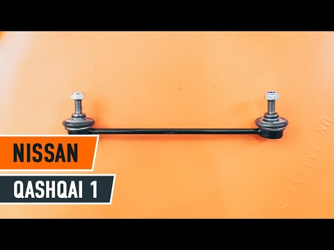 How to replace Front Anti Roll Bar Link on NISSAN QASHQAI 1 TUTORIAL | AUTODOC