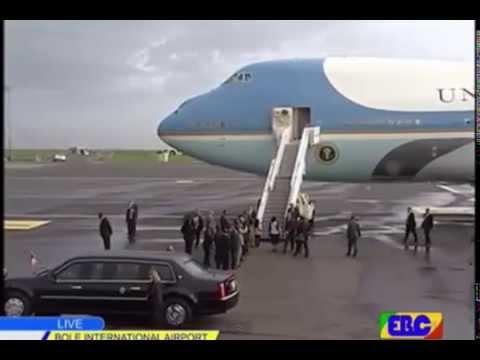 U.S. President B. OBAMA arrived in Addis Ababa Bole International Air Port