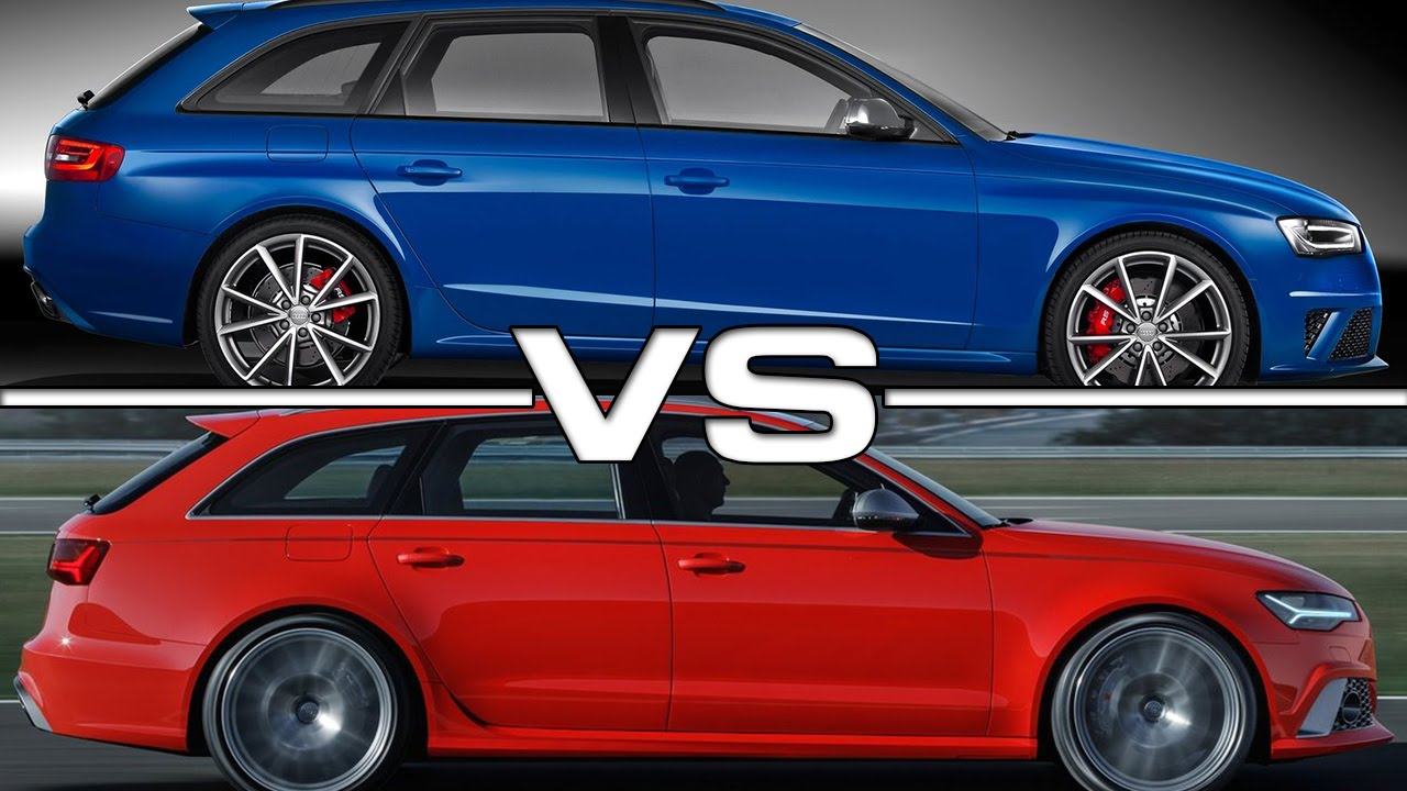 Audi Rs4 Avant Vs Audi Rs6 Avant Youtube