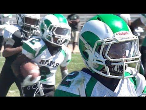 🔥🔥 Kenneth Moore Put On a   10U San Joaquin Rams vs Modesto Raiders  Youth Highlight Mix 2017