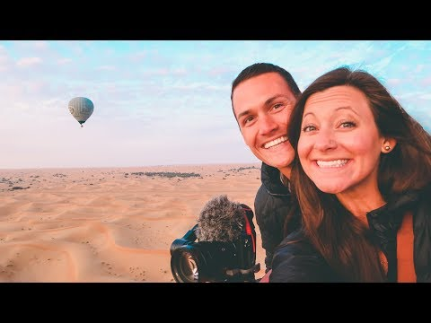 HOT AIR BALLOON (Rough Landing!) Dubai Desert
