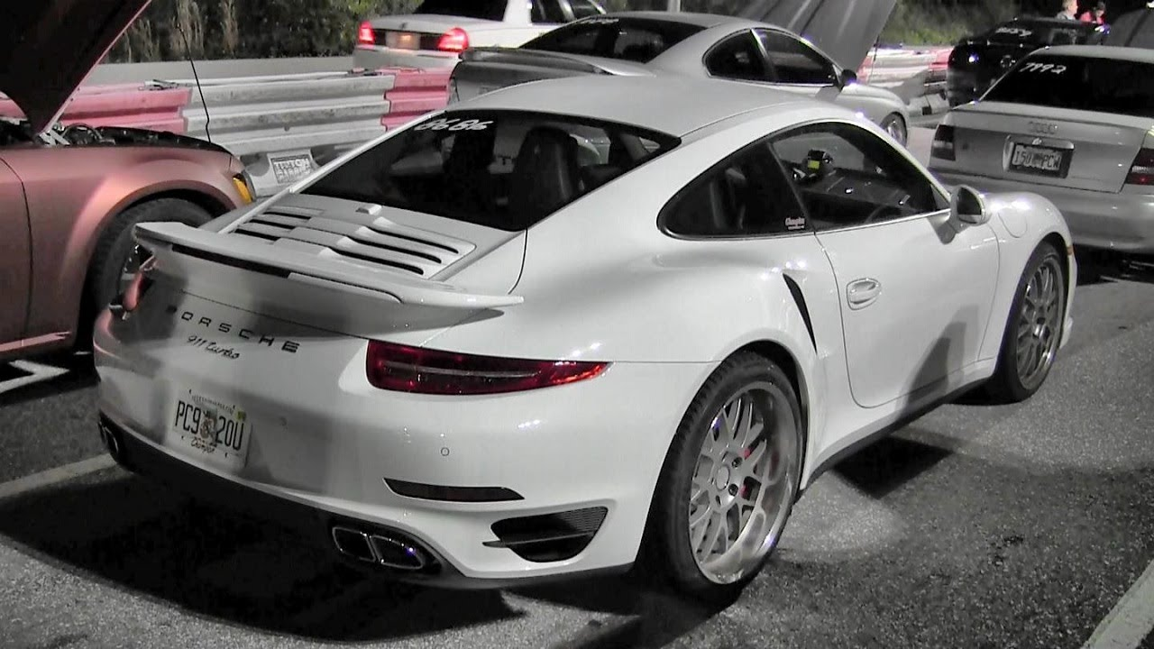 2014 Turbo Porsche 991 911 Turbo 1/4 Mile Drag Race x 2 v 2014 ...