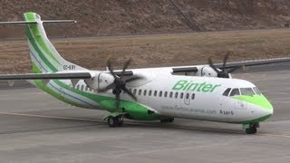 Hard day to land an ATR 72 Binter Canarias at Madeira Airport - Strong tail wind