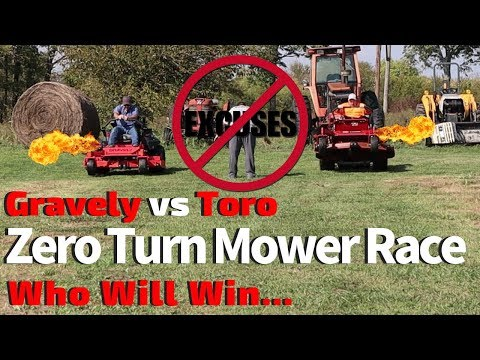 Zero Turn Mower Race ► Gravely vs Toro | Yamaha vs Kawasaki
