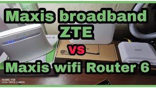 Rebiu speed Wifi broadband ZTE VS Maxis Fiber Wifi 6 Router