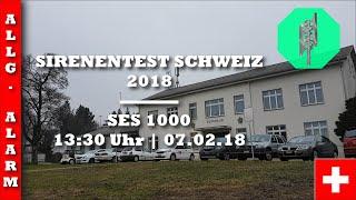 Sirenentest Schweiz 2018   Schaffhausen   SES 1000   Allgemeiner Alarm