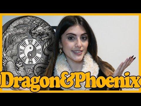 ☯️ DRAGON & PHOENIX ☯️ REVIEW: 2 Oz Silver Coin 2$ Tuvalu 2019