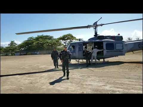 Recorrido director general Policía Nacional por playa Los Gringos y La Poza de Bojolo, Nagua.