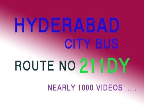 HYDERABAD CITY BUS FROM SECUNDERABAD TO DEVARAYAMZAL  ROUTE NO BUS NO 211DY