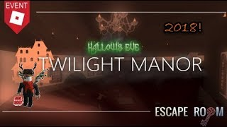 Roblox Escape Room - Halloween Event 2018!!
