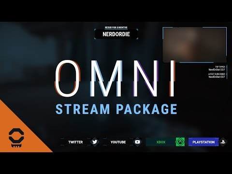 OMNI Destiny 2 Stream Package (Animated Alerts & Scenes, Overlay, and Panels)