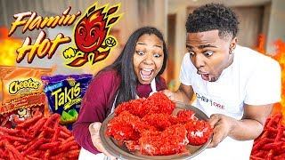 HOW TO MAKE FLAMIN HOT CHEETOS &amp HOT TAKIS CHICKEN WINGS! DIY  COOKING WITH THE EMPIRE FAMILY