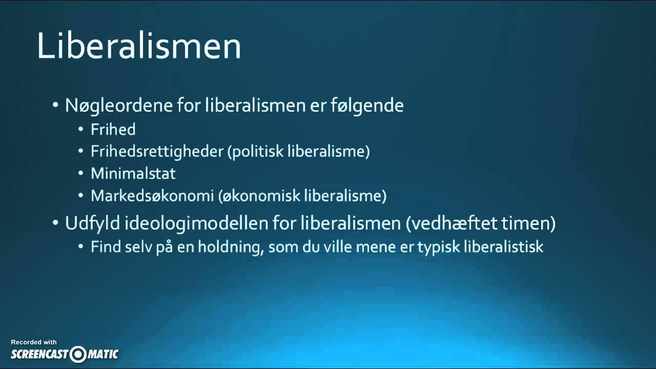 Om de klassiske ideologier