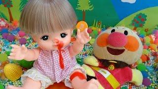 メルちゃん アンパンマン おもちゃ 鼻血 ビーズあそび フライパン♡アンパンおねえさん♡ thumbnail