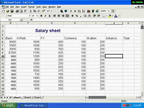 how to make oppen office ecel sheets add up