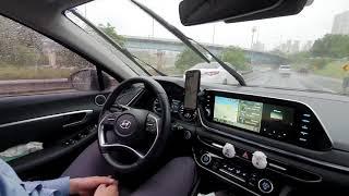 현대 소나타 크루즈 운행