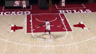 nba 2k17 how to do the mj free throw line dunk