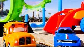 Speedy y Bussy - Nuevo circuito - Coches - Coches de carreras para niños - Carritos